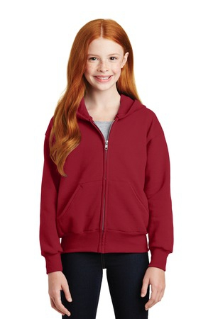Hanes  Youth EcoSmart FullZip Hooded Sweatshirt. P480