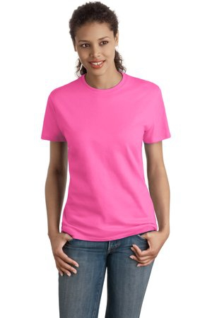 Hanes  Ladies NanoT Cotton TShirt. SL04