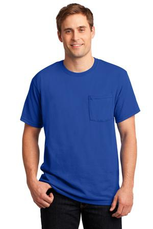 JERZEES   DriPower Active 50/50 Cotton/Poly Pocket TShirt.  29MP