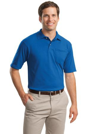 JERZEES SpotShield 5.6Ounce Jersey Knit Sport Shirt with Pocket. 436MP