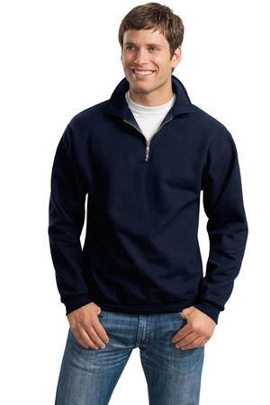 JERZEES SUPER SWEATS  1/4Zip Sweatshirt with Cadet Collar.  4528M