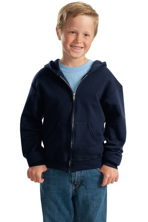 JERZEES  Youth NuBlend FullZip Hooded Sweatshirt.  993B