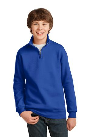 JERZEES Youth NuBlend; 1/4Zip Cadet Collar Sweatshirt. 995Y