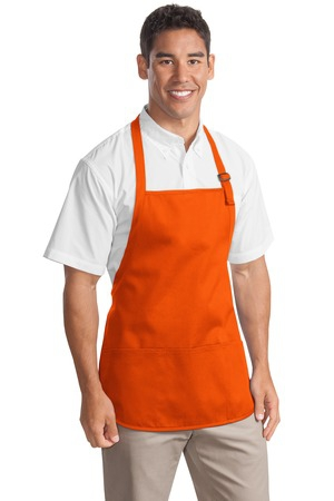 Port Authority MediumLength Apron with Pouch Pockets.  A510