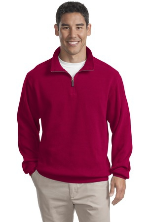 Port Authority Flatback Rib 1/4Zip Pullover.  F220