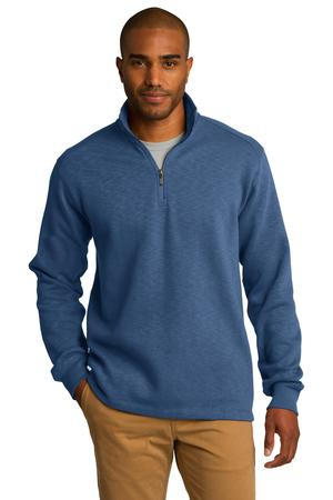 Port Authority Slub Fleece 1/4Zip Pullover. F295