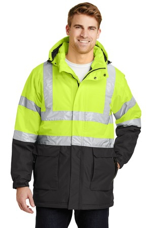 Port Authority ANSI 107 Class 3 Safety Heavyweight Parka. J799S