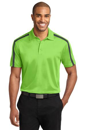 Port Authority Silk Touch Performance Colorblock Stripe Polo. K547