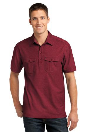 Port Authority Oxford Pique Double Pocket Polo. K557