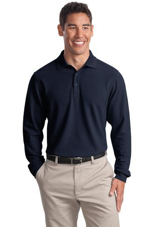 Port Authority Long Sleeve EZCotton Pique Polo. K800LS
