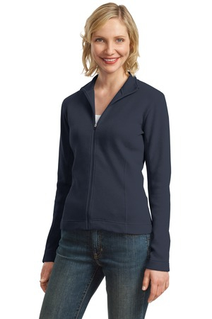 Port Authority Ladies Flatback Rib FullZip Jacket.  L221