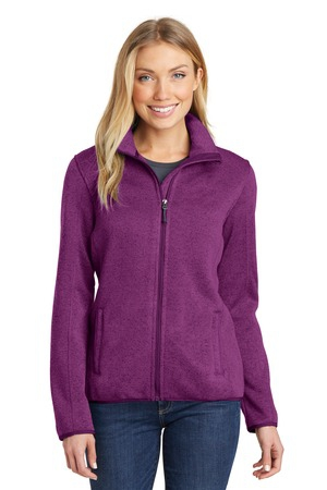 Port Authority Ladies Sweater Fleece Jacket. L232