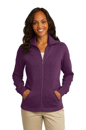Port Authority Ladies Slub Fleece FullZip Jacket. L293