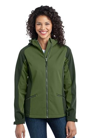 Port Authority Ladies Gradient Hooded Soft Shell Jacket. L312