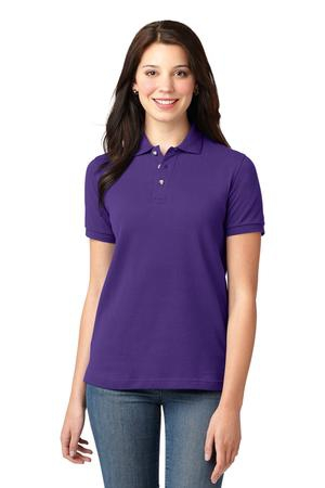 Port Authority Ladies Heavyweight Cotton Pique Polo.  L420