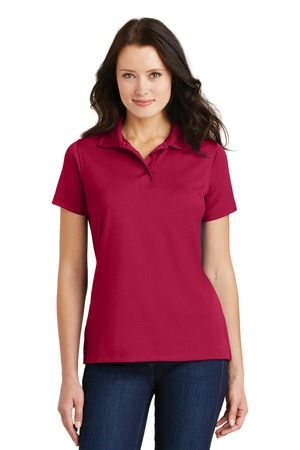 Port Authority Ladies PolyCharcoal Blend Pique Polo. L497