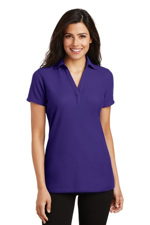Port Authority Ladies Silk Touch YNeck Polo. L5001