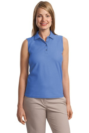 Port Authority Ladies Silk Touch Sleeveless Polo.  L500SVLS