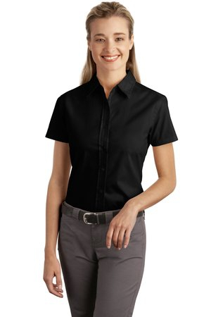 Port Authority Ladies Short Sleeve Easy Care  Soil Resistant Shirt.  L507