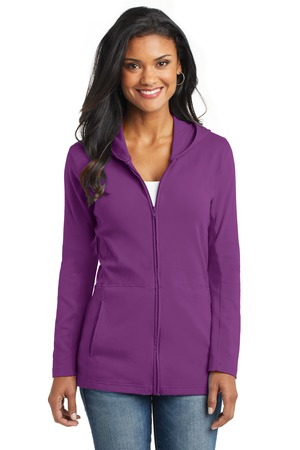 Port Authority Ladies Modern Stretch Cotton FullZip Jacket. L519
