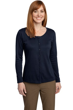 Port Authority Ladies Silk Touch Interlock Cardigan. L530