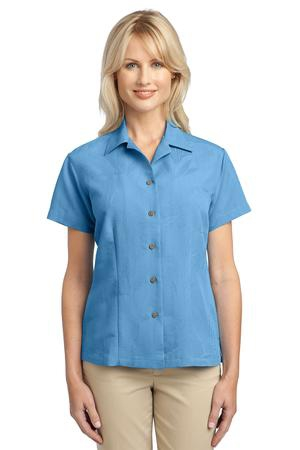 Port Authority Ladies Patterned Easy Care Camp Shirt. L536