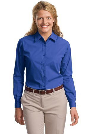 Port Authority Ladies Long Sleeve Easy Care  Soil Resistant Shirt.  L607
