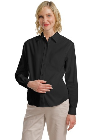 Port Authority Maternity Long Sleeve Easy Care Shirt.  L608M