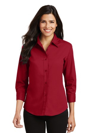 Port Authority Ladies 3/4Sleeve Easy Care Shirt. L612