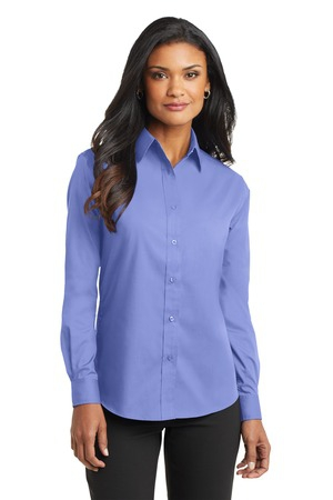 Port Authority Ladies Long Sleeve Value Poplin Shirt. L632