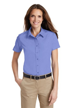 Port Authority Ladies Short Sleeve Value Poplin Shirt. L633