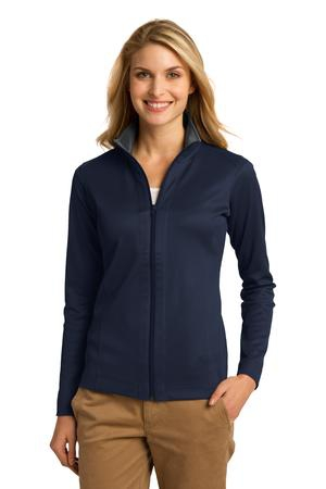 Port Authority Ladies Vertical Texture FullZip Jacket. L805