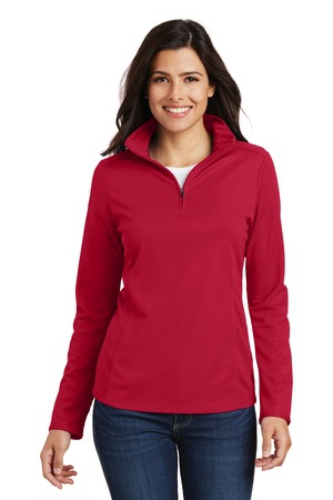 Port Authority Ladies Pinpoint Mesh 1/2Zip . L806
