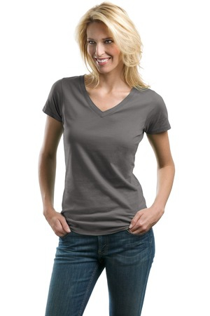 Port Authority Ladies Concept VNeck Tee. LM1002