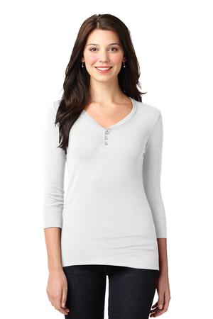 Port Authority Ladies Concept Stretch 3/4Sleeve Scoop Henley. LM1007