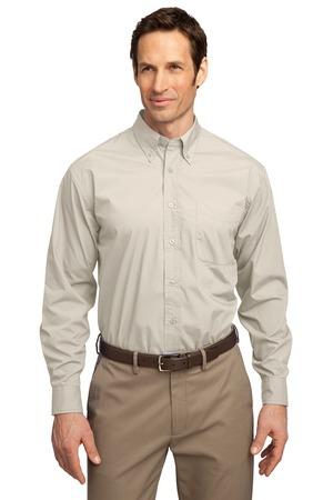 Port Authority Long Sleeve Easy Care  Soil Resistant Shirt.  S607