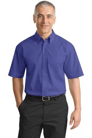 Port Authority Short Sleeve Value Poplin Shirt. S633