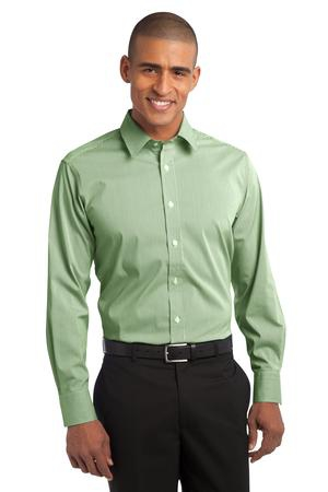 Port Authority Fine Stripe Stretch Poplin Shirt. S647