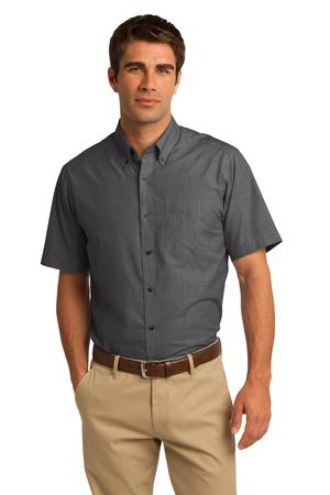 Port Authority Short Sleeve Crosshatch Easy Care Shirt. S656