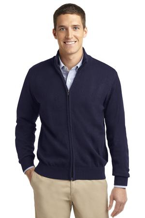 Port Authority Value FullZip Mock Neck Sweater. SW303