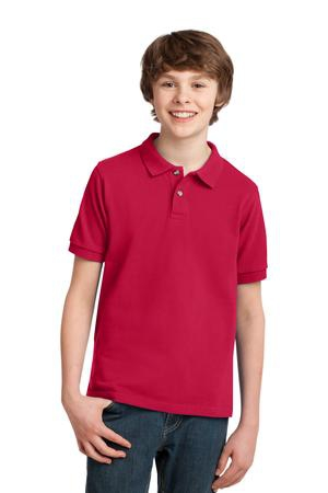 Port Authority Youth Heavyweight Cotton Pique Polo. Y420