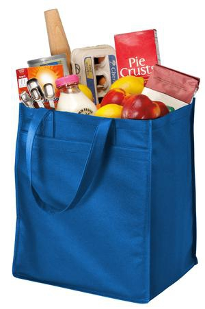 Port & Company  ExtraWide Polypropylene Grocery Tote. B160