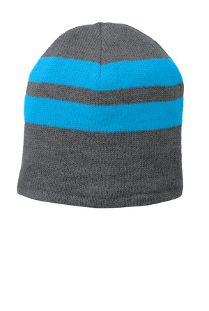 Port & Company FleeceLined Striped Beanie Cap. C922