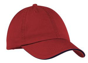 Port & Company  Washed Twill Sandwich Bill Cap.  CP79