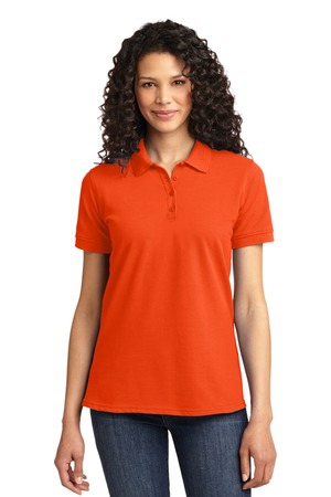 Port & Company Ladies 50/50 Pique Polo. LKP155