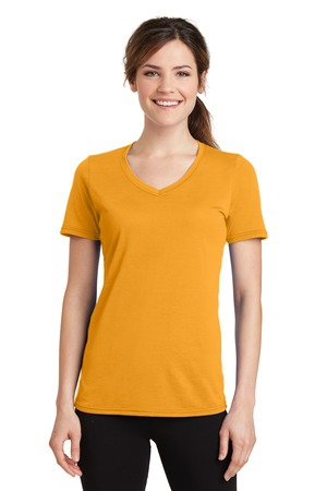Port & Company Ladies Essential Blended Performance VNeck Tee. LPC381V