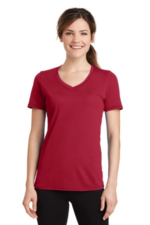 Port & Company Ladies Performance Blend VNeck Tee. LPC381V