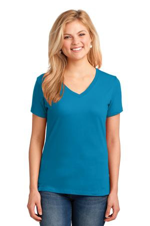 Port & Company Ladies Core Cotton VNeck Tee. LPC54V