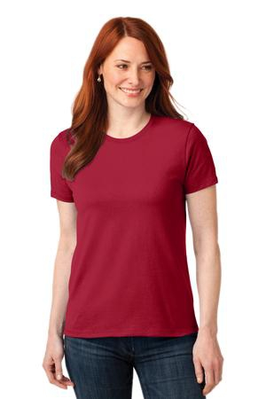 Port & Company Ladies 50/50 Cotton/Poly TShirt. LPC55