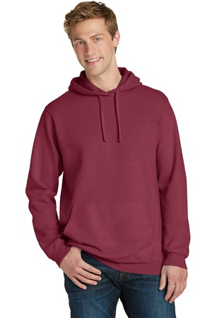 Port & Company PigmentDyed Pullover Hooded Sweatshirt. PC098H